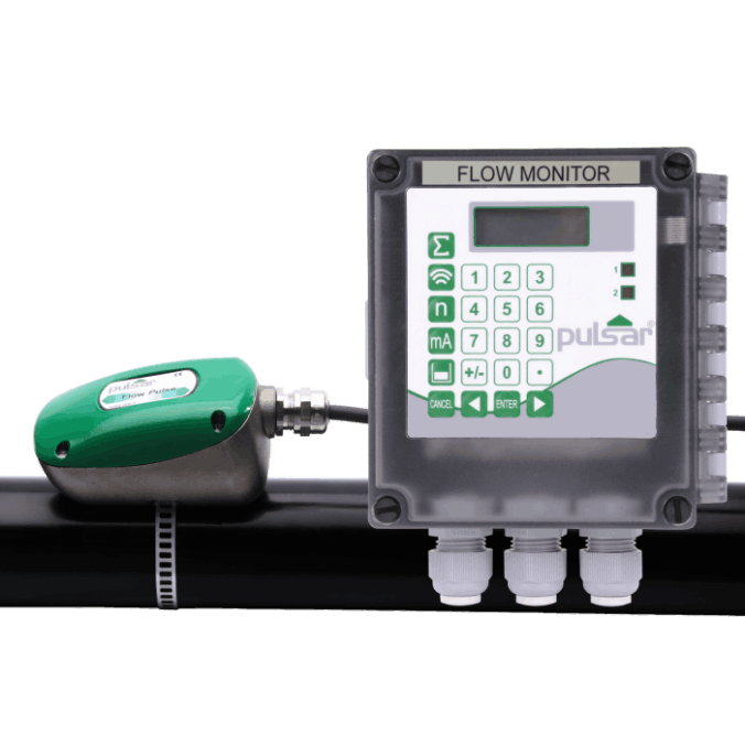 Pulsar Flow Monitor for Pipe Flow Measurement